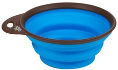 Dog Whisperer Collapsible/Expandable Travel Cup - Brown/Blue