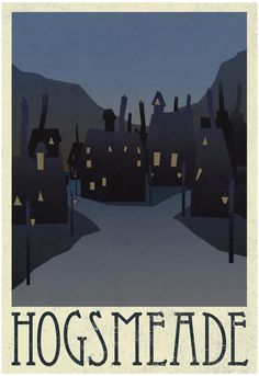 Amazon.com: Hogsmeade Retro Travel Poster 13 x 19in: Prints: Posters & Prints