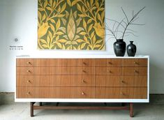 A collection of Martha Leone Design's mid century furniture. Painted or  updated.