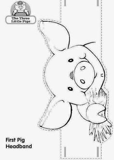 Cuentos con coronas Animal Coloring Pages, Coloring Pages For Kids, Craft Activities For Kids, Preschool Crafts, Nativity Costumes, Pig Mask, Pig Crafts, Three Little Pigs, Happy Paintings