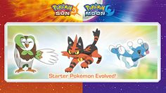 First-partner Pokémon evolutions, a special demo version and more announced for Pokémon Sun & Pokémon Moon!  #Pokemon
