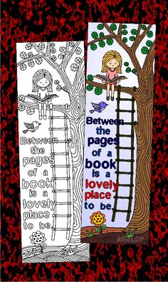 Eight Coloring Bookmarks with Quotes on Reading. Bookmarks Diy Kids, Disney Bookmarks, Paper Bookmarks, Bookmark Craft, Cross Stitch Bookmarks, Handmade Bookmarks, Corner Bookmarks, Simple Doodles, Cute Doodles