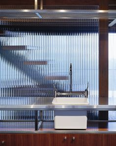 Bowen Mountain House ... Ribbed Glass wall