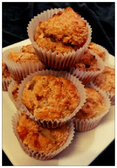Vegan Ginger and Peach Muffins