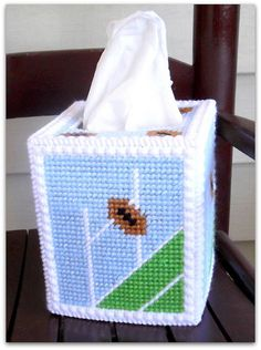 Football Tissue Box Cover by TissueMart on Etsy, $18.00