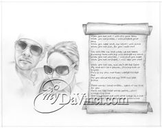 Adding a poem or lyrics to a pencil drawing makes a very sweet, intimate gift for that special someone. Beautiful Pencil Sketches, Cool Sketches, Pencil Sketch Portrait, Pencil Drawings, Sketch Paper, Portraits From Photos, Poem, How To Draw Hands, Lyrics