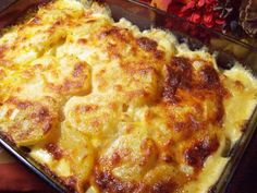 Velveeta Potatoes Au Gratin Recipe - Posting more for the idea of parboiling the potatoes the night before, then assembling and baking the dish the next day. Potatoe Casserole Recipes, Casserole Dishes, Potato Recipes, Potatoes Au Gratin, Sliced Potatoes, Scallop Potatoes, Cheesy Potatoes, Baked Potatoes, Velveeta Recipes