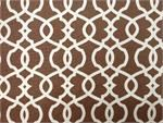Magnolia Home Fashions Emory Chocolate Fabric  another variation on lattice