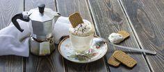 Crema al caffè Deli Food, Coffee Cream, Italian Coffee, Italian Cookies, Tea Sandwiches, Silver Spoons, Mousse, Tea Time, Bakery