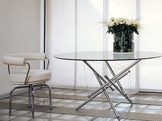 Cassina 714 Theodore Waddell (polished chrome, crystal glass)