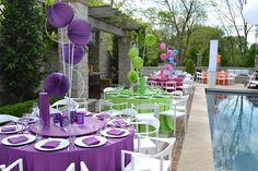 Fun & colorful table arrangements that light up