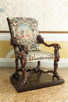 Andrea Brustolon, carved chair, ca 1690 Furniture, Italian Furniture, English Furniture, English Furniture Style, Dream Furniture, Carved Chairs, Beautiful Furniture, Elegant Sofa, Ornate Furniture