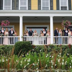 Wedding pictures on our great veranda!  #RealMVG #MVGMoments #NHBride #WhiteMountains #Instagram