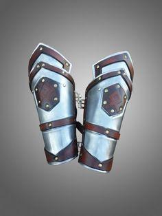 LARP Dwarven Style Bracers With Runes  Steel Armor of Dwarf