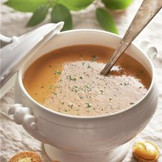 Seafood Soup, Healthy Soup, Cheeseburger Chowder, Bacon, Food And Drink, Diet, Ethnic Recipes, Primers, French