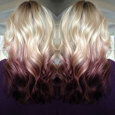 hairchalk:  You've got to love this blonde and plum ombre hair!