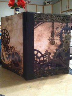 Altered compostion notebook (Steampunk) I made for Sheila McNabb 2/14
