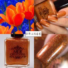 New! Orange Inspiration from the ROY G. BIV collection of colorshift holographic indie polish by MDJ Creations by MDJCreations on Etsy