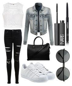 """""""Going Out✌️"""" by chlumblr on Polyvore featuring LE3NO, Ally Fashion, Miss Selfridge, adidas Originals, Paul & Joe, NARS Cosmetics and Chanel"""