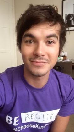 Join Tyler Blackburn and wear purple to support LGBT youth today for GLAAD's Spirit Day! #ChooseKindness #BeInspired | Pretty Little Liars