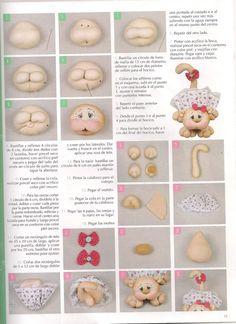 Album Archive - Munequeria Soft Nº 67 Sock Dolls, Free To Use Images, Cute Stuffed Animals, Sock Animals, Waldorf Dolls, Sewing Toys, Soft Sculpture, Felt Art, Maneki Neko
