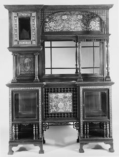 c1884 cabinet, Charles Tisch, NYC (1870-89), cabinet displayed at New Orleans Exposition 1884-5, C Tisch donated to the met in 1889.
