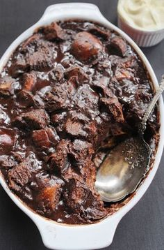 The most decadent chocolate bread pudding I know of.