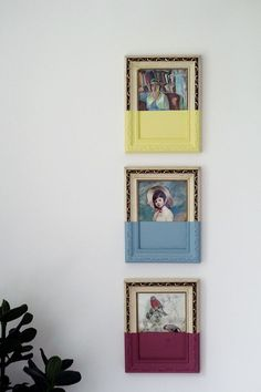 Take your old pictures for a dip! #decor #DIY