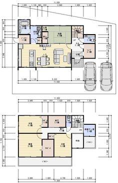 間取り シューズクローク 物干し室 Floor Plants, House Layouts, House Floor Plans, My House, New Homes, Flooring, How To Plan, Building, Interior