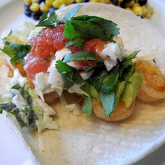 Shrimp Soft Tacos - Daily Dish with Foodie Friends Friday