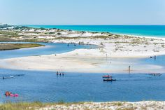 Grayton Beach State Park - The South's Best Beaches - Southernliving. Florida  This spot offers the famous stark white sands and turquoise-streaked waters of Scenic Highway 30A, along with a rare dune lake and easy access to kayaking, surf fishing, sunbathing, and more. A 1-mile nature walk and other hiking trails meander through pines and palms and over dunes to the Gulf. This au-naturel park contrasts with 30A's more upscale developments nearby—Seaside, Rosemary Beach, and Alys Beach—which…