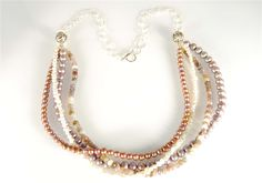 Silver and Freshwater Pearl Multistrand Necklace