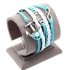 Sister Bracelet Wristband Dove Infinity Black White Leather Womens Girls UK New