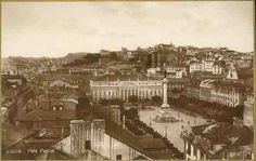 S/N - Lisboa. Vista parcial - Sem Editor - S/D - Dimensões: 13,5x8,6 cm (bordo dourado) - Col. Aurélio Dinis Marta.