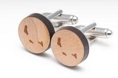 Comoros Wood Cufflinks