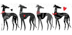 Greyhound mug illustration by Reija Kiiski