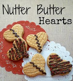 Easy Nutter Butter Hearts