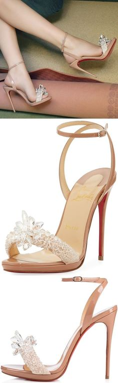 Do you want to be treated like Cinderella on your wedding day? If the answer is yes, you really can't go wrong with a pair of bridal heels from Christian Louboutin. #louboutin