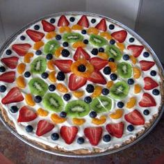 Fruit Pizza ~ I love this because you can pretty much do what ever you want with this. It is SO yummy!
