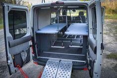 Bunk Beds – Outside Van - vanlifeideas Sprinter Camper Conversion, Camper Van Conversion Diy, Van Conversion Interior, Camper Interior, Van Interior, Van Camping, Camping Life, Ducato Camper, Overland Trailer