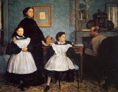 The Belleli Family - Artista: Edgar Degas Data do início: 1860 Data da Conclusão:1862 Estilo: Realism Género: portrait Técnica: oil Material: canvas Dimensões: 200 x 250 cm Galeria: Musée d'Orsay, Paris, France