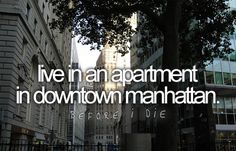 My plan also includes not owning a car and living life in the city for a year!
