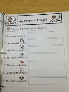 All About Me Book and Worksheet FREE