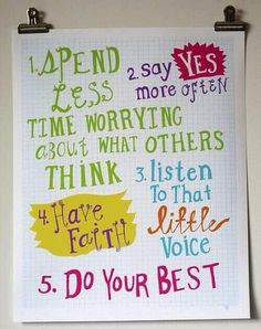 Love these pointers - some things we should all aspire to.