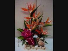 Make a Tropical Flower Arrangement - YouTube