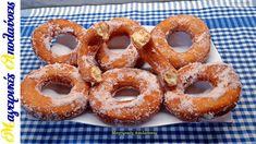 Λουκουμάδες παραλίας και ντόνατς σαν βαμβάκι πανεύκολοι Onion Rings, Doughnut, Ethnic Recipes, Desserts, Youtube, Food, Tailgate Desserts, Deserts, Essen