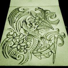Polynesian Art. Samoan Tribal. #polynesian #tattoo