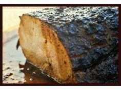 Lomo de cerdo al horno con confitura de manzana y hierbabuena. :>Las recetas de Tere;;