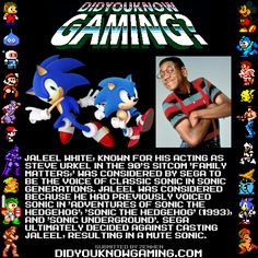 So Classic Sonic WAS originally going to have a voice? Why didn't they do that, I thought it was kind of unfair that Classic Tails can talk but not Classic Sonic in Sonic Generations. And Jaleel White would have been perfect since he was the first person to voiced Sonic in the old Sonic cartoons.