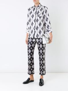 For Restless Sleepers geometric print pyjama trousers